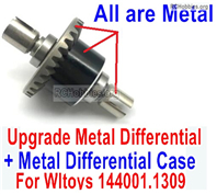 Wltoys 124018 Upgrade Parts Metal Steel Differential unit Parts With the Metal Differential Case. 124018.1309