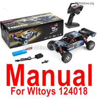Wltoys 124018 Manual Instruction Parts. The words are in English.