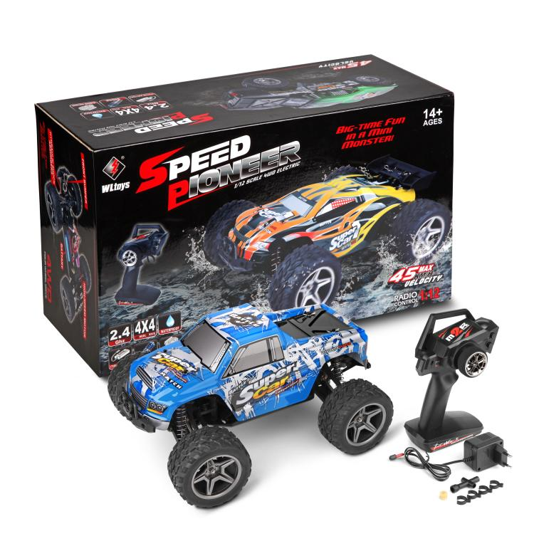 WLTOYS 12402 rc monster truck toy,1/12 1:12 electric rc car, 4WD remote control cross-country rock crawler with big wheels