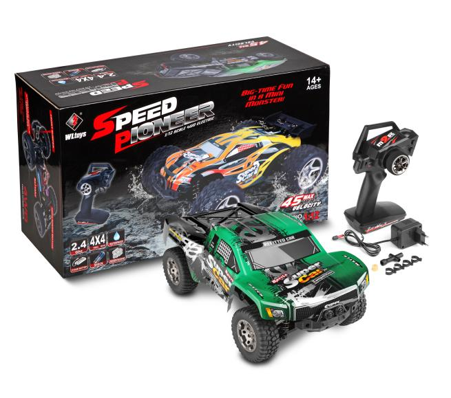 WLTOYS 12403 rc monster truck toy,1/12 1:12 electric rc car, 4WD remote control cross-country rock crawler with big wheels
