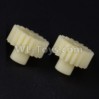 Wltoys 12409 RC Car Parts-19T Motor Gear Parts-(2pcs)-19 Teeth-0297,Wltoys 12409 Parts