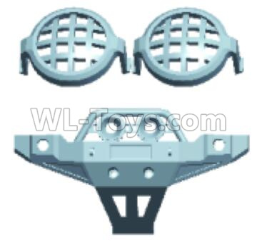 Wltoys 12409 RC Car Parts-Lampshade & Front anti-crash assembly-12402.0237,Wltoys 12409 Parts