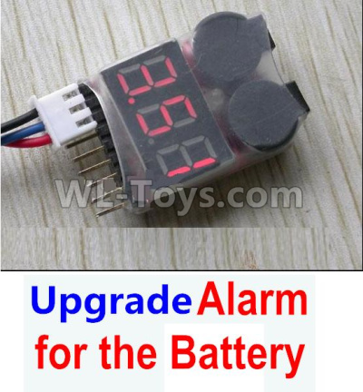 Wltoys 12409 RC Car Upgrade Alarm for the Battery,Can test whether your battery has enouth power,Wltoys 12409 Parts