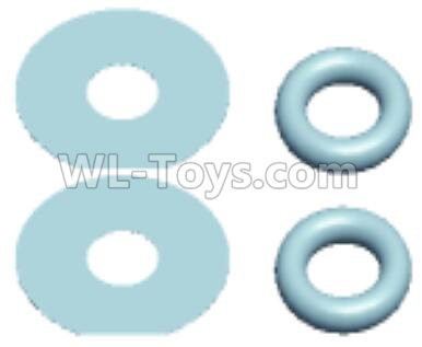 Wltoys 12409 RC Car Parts-Differential O-ring(4.5x8.5x2)-2pcs & Pinghua Division(12x5.2x0.3)-2pcs-K949-70,Wltoys 12409 Parts