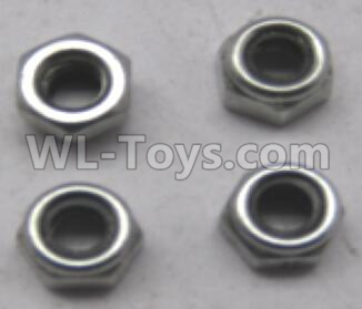 Wltoys 12409 RC Car Parts-M4 Lock nut(4pcs)-L959-65 ,Wltoys 12409 Parts