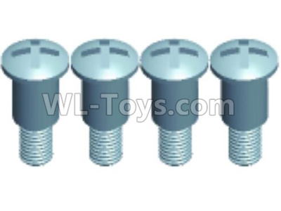 Wltoys 12409 RC Car Parts-12401.0275 Pan head Half tooth screws(4PCS)-M3X10-Bottom tooth lehgth 5mm,Wltoys 12409 Parts
