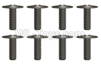 Wltoys 12409 RC Car Parts-18428-B.0558 Pan head screws(8PCS)-M2.6X6 WB8,Wltoys 12409 Parts