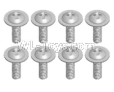 Wltoys 12409 RC Car Parts-A949-43 Pan head screws with Tape(8PCS)-M2.5X6X6,Wltoys 12409 Parts