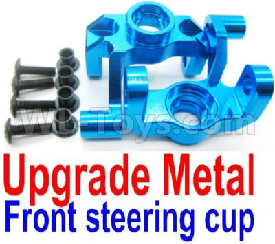Wltoys 12428-A RC Car Parts-Upgade Metal Front steering cup,Left and Right Universal joint(2pcs),Wltoys 12428-A Parts