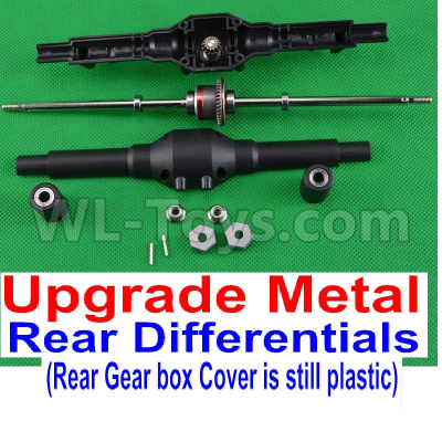 Wltoys 12428-A RC Car Upgrade Metal Rear Differentials Assembly and Upgrade Plastic Rear gear box coveracing Truck Car