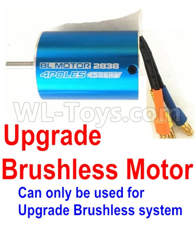 Wltoys 12428-A RC Car Upgrade Brushless motor(2838 motor,3800kv)-Can only be used for Upgrade Brushless setacing Truck