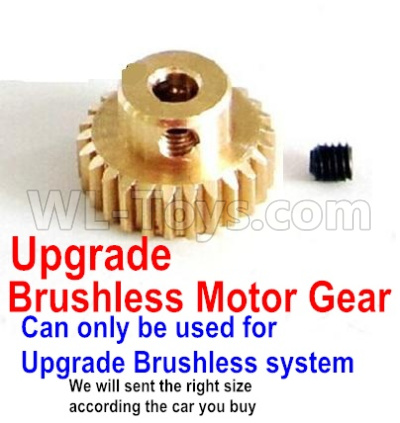 Wltoys 12428-A RC Car Upgrade Motor gear(Can only be used for Upgrade Brushless set,We will according the car you buy to sent you the right version size)