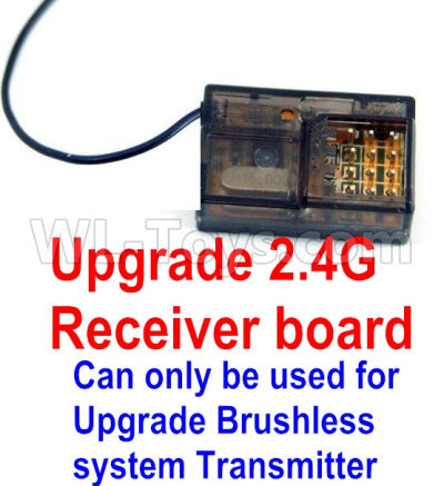 Wltoys 12428-A RC Car Upgrade 2.4G Receiver board(Can only be used for Upgrade Brushless set,You must buy the upgrade Transmitter together to use for Upgrade Brushless set)