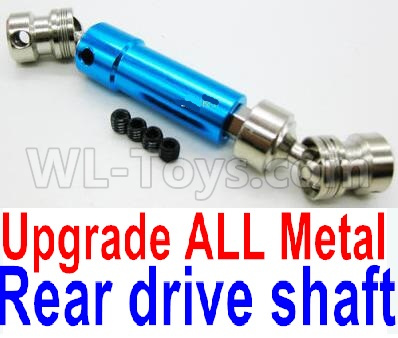 Wltoys 12428-A RC Car Upgrade Metal Rear drive shaft assembly-Blue-0024 -0025,Wltoys 12428-A Parts
