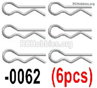 Wltoys 12427 R-Clips Parts for the Body Shell Cover. Total 6pcs. 12427-0062
