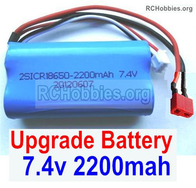Wltoys 12427 Upgrade Battery Parts. Upgrade 7.4V 2200mah Battery With T-Shape Plug(1pcs). 12427-00123.The size is 65X38X18mm-