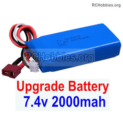 Wltoys 12427 Upgrade 7.4V 2000mah Battery. 1pcs,12427-00123. Size 80X35X19mm