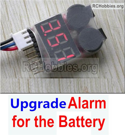 Wltoys 12428 Upgrade Alarm Parts for the Battery,Can test whether your battery has enouth power