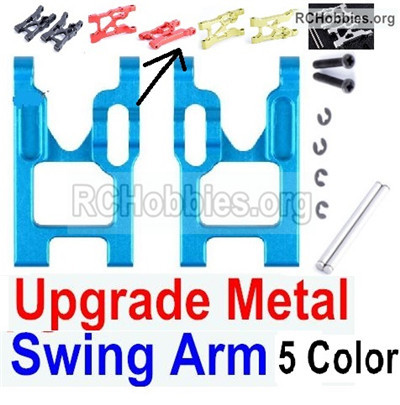 Wltoys 12427 Upgrade Metal Swing Arm Parts. Total 2pcs. 12427-0004-Left and Right