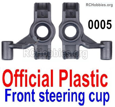 Wltoys 12427 Steering cup Parts. Total 2pcs. 12427-0005. Official Plastic Left and Right