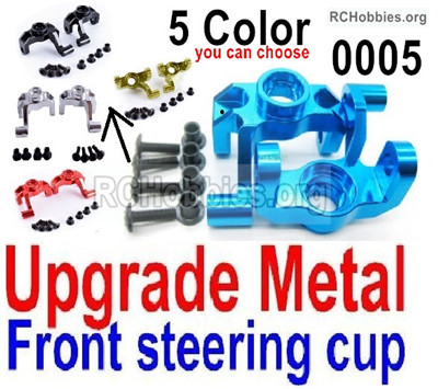 Wltoys 12427 Upgade Metal Front steering cup Parts. 12427-0005, Left and Right Universal joint. Total 2pcs.