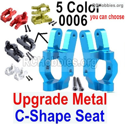 Wltoys 12427 Upgrade Metal C-Shape Seat Parts. Total 2pcs. Blue. 12427-0006