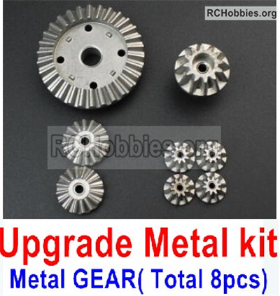 Wltoys 12427 Upgrade Metal Kit Parts. All are Metal gear,Total 8pcs.
