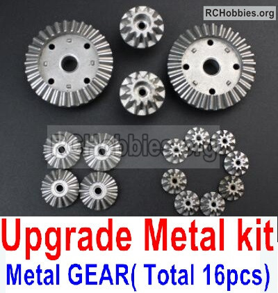 Wltoys 12428 Upgrade Metal Kit Parts. All are Metal gear,total 16pcs.