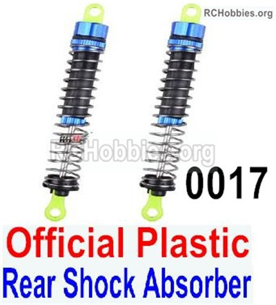 Wltoys 12427 Rear Shock Absorber Parts. Total 2pcs. 12427-0017-Official