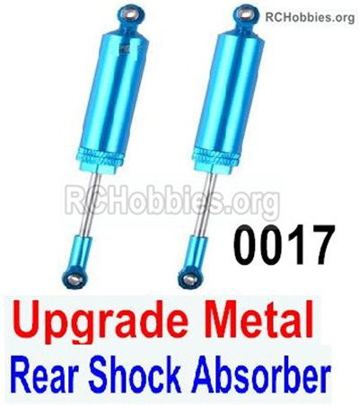 Wltoys 12428 Upgrade Metal Rear Shock Absorber Parts. Total 2pcs. 12428-0017