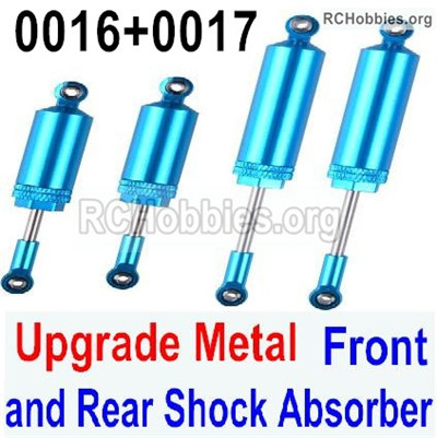 Wltoys 12428 Upgrade Metal Front and Rear Shock Absorber Parts. Total 4pcs. 12428-0017+0016