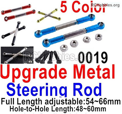 Wltoys 12427 Upgrade Metal steering rod Parts. Total 2pcs. 12427-0019