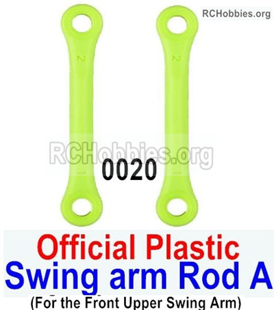 Wltoys 12427 Swing arm Rod A Parts. Total 2pcs. 12427-0020,Official Plastic materials