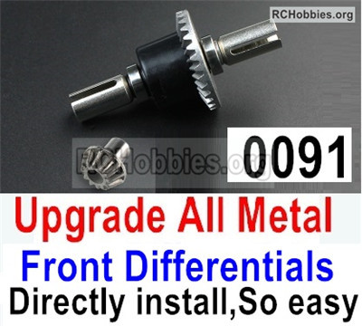 Wltoys 12427 Upgrade All Metal Front Differentials. Parts. 12427-0091,Can Directly install,So Easy