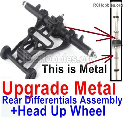 Wltoys 12428 Upgrade Head up Wheel and Upgrade Metal Rear Differentials Assembly