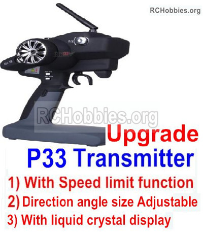 Wltoys 12427 Upgrade P33 Transmitter Parts With Speed Limit function. 12427-00126