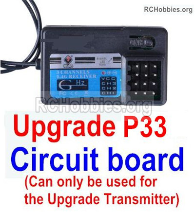 Wltoys 12428 Upgrade P33 Receiver Board Parts. It can only be use for the Upgrade P33 Transmitter. 12428-0126