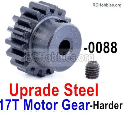 Wltoys 12427 Upgrade Steel Motor Gear Parts with 17 Teeth. The matericals is Harder.