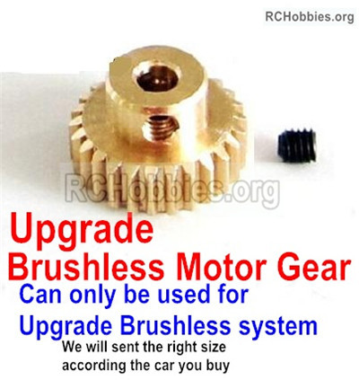 Wltoys 12427 Upgrade Motor gear. The motor Gear hole diameter is 3.2mm,Perfect for the Upgrade Brushless motor)