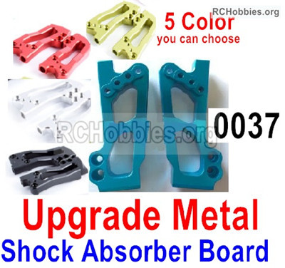 Wltoys 12428 Upgrade Metal shockproof board Parts. 12428-0037,Shock Absorbers board. Total 2pcs.