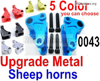 Wltoys 12428 Upgrade Metal sheep horns Parts. 12428-0043-. Total 2pcs.