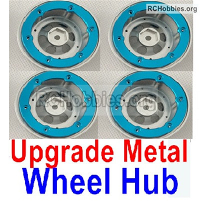 Wltoys 12427 Upgrade Metal Wheel hub Parts. Total 4pcs.-Not include the Tire lether
