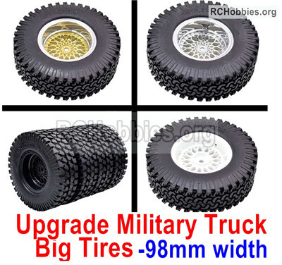 Wltoys 12428 Upgrade Military truck tires Parts,More Big,More