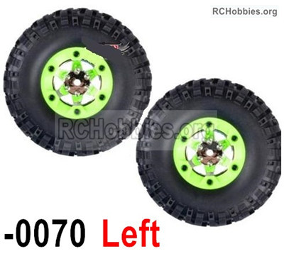 Wltoys 12427 Whole Left Wheel unit Parts. 12427-0070-(Include the Wheel,Trie leather,upper and bottom wheel cover)-2pcs