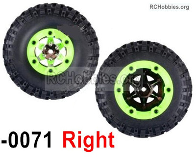 Wltoys 12427 Whole Right Wheel unit Parts. 12427-0071-(Include the Wheel,Trie leather,upper and bottom wheel cover)-2pcs