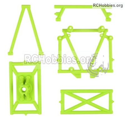 Wltoys 12427 The Roll cage,Anti-Roll Bar B,C,D,E & Spare Tire Rack. 12427-0054