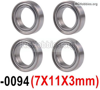 Wltoys 12427 Bearing Parts. 7X11X3mm,12427-0094,Total 4pcs