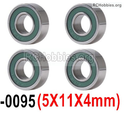 Wltoys 12427 Bearing Parts. 5X11X4mm,12427-0095,Total 4pcs