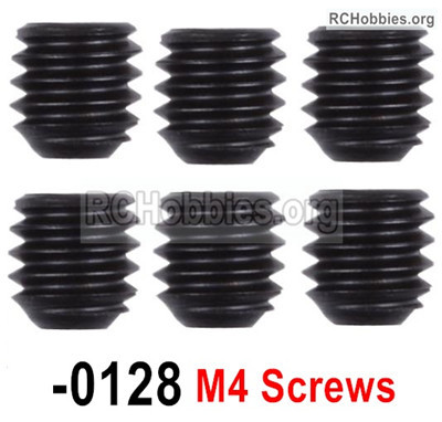 Wltoys 12427 M4X4 Set screws,12427-00128, Total 5pcs.