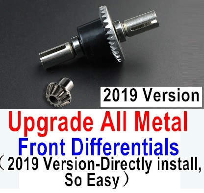 Wltoys 12428-A RC Car Parts-12428A Upgrade All Metal Front Differentials Parts-2019 Version,Directly install